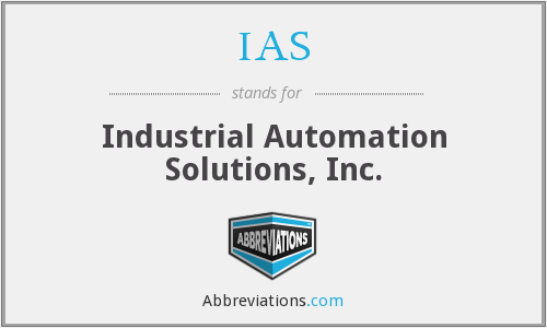 IAS - Industrial Automation Solutions, Inc.