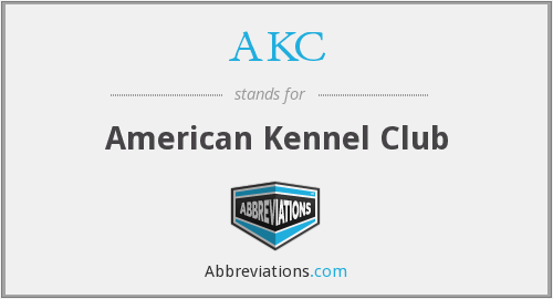 What does AKC stand for?