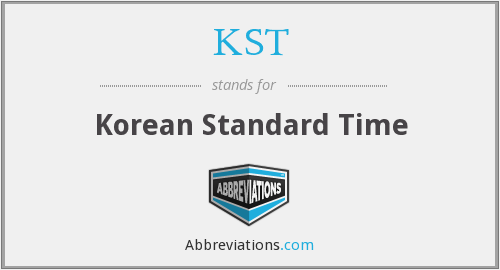 KST - Korean Standard Time