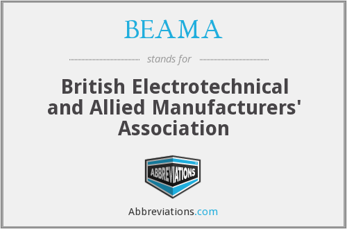 What does BEAMA stand for?