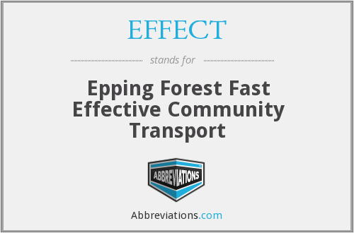 EFFECT - Epping Forest Fast Effective Community Transport