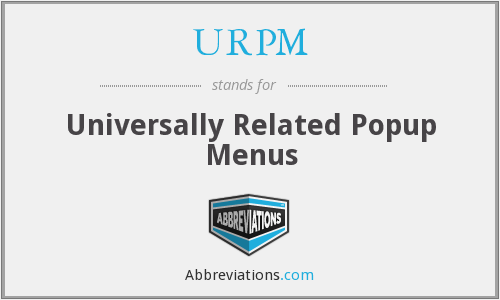 What does URPM stand for?
