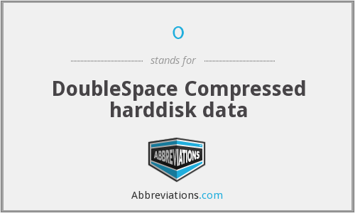 0 - Compressed harddisk data (DoubleSpace)