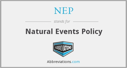NEP - Natural Events Policy