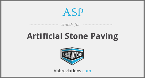 ASP - Artificial Stone Paving