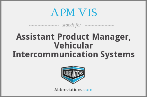 What does APM VIS stand for?