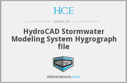 HCE - HydroCAD Stormwater Modeling System Hygrograph file