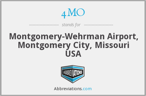 4MO - Montgomery-Wehrman Airport, Montgomery City, Missouri USA