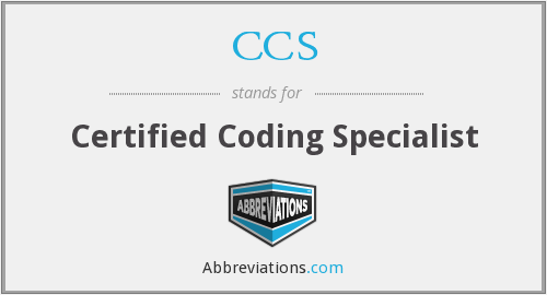 CCS - Certified Coding Specialist