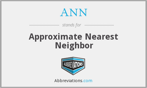 ANN - Approximate Nearest Neighbor