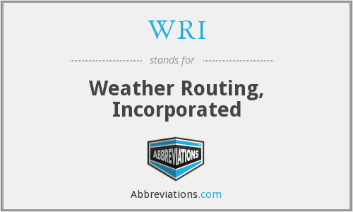 WRI - Weather Routing, Incorporated
