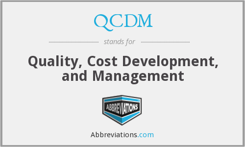 QCDM - Quality Cost Development And Management