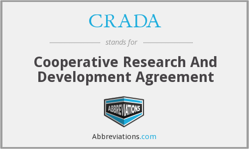 CRADA - Cooperative Research And Development Agreement