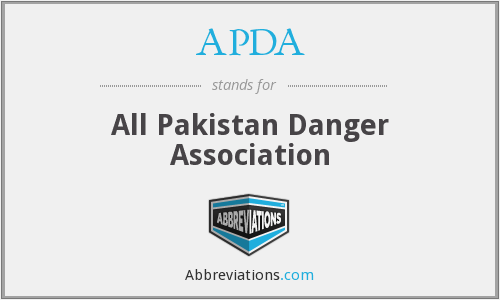 APDA - All Pakistan Danger Association