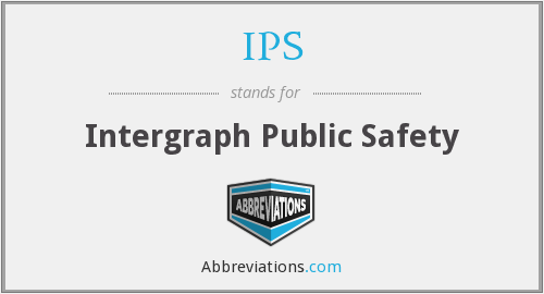IPS - Intergraph Public Safety