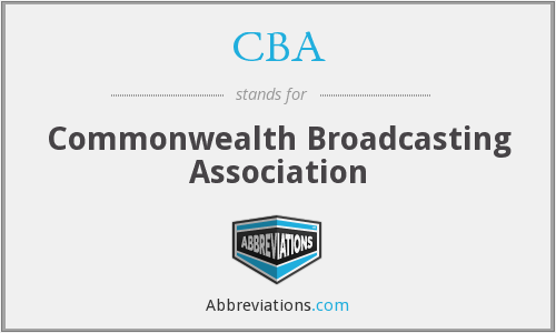 CBA - Commonwealth Broadcasting Association