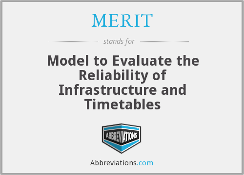 MERIT - Model to Evaluate the Reliability of Infrastructure and Timetables