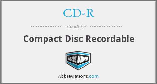 What does CD-R stand for?