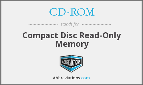 CD-ROM - Compact Disc Read-Only Memory