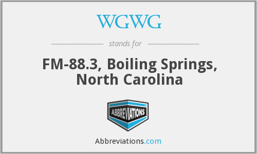 WGWG - FM-88.3, Boiling Springs, North Carolina