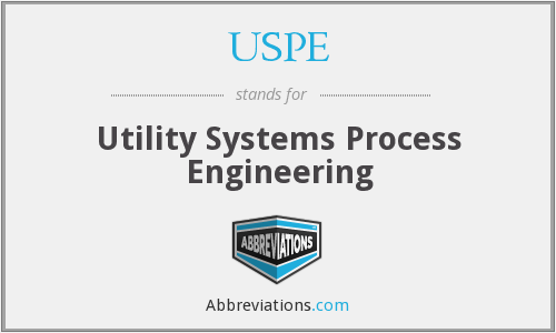 USPE - Utility Systems Process Engineering