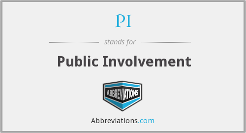 PI - Public Involvement