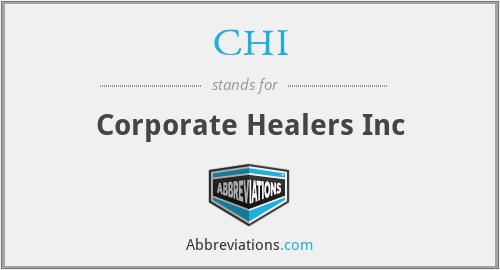 CHI - Corporate Healers Inc