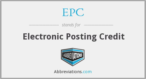 EPC - Electronic Posting Credit