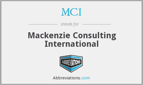 MCI - Mackenzie Consulting International