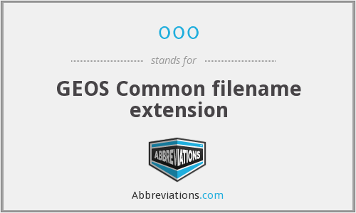 000 - Common filename extension (GEOS)