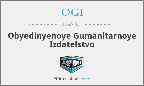 OGI - Obyedinyenoye Gumanitarnoye Izdatelstvo