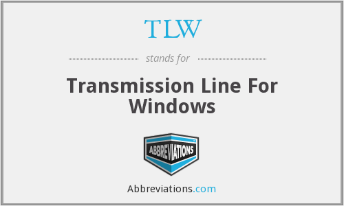 TLW - Transmission Line For Windows