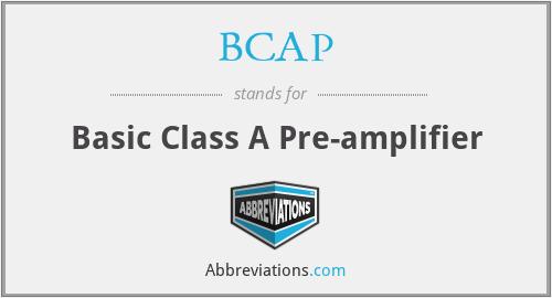 BCAP - Basic Class A Pre-amplifier