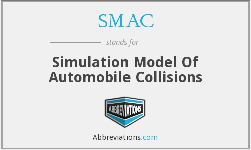 SMAC - Simulation Model Of Automobile Collisions