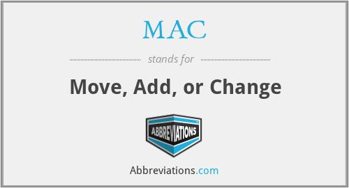 MAC - Move, Add, or Change
