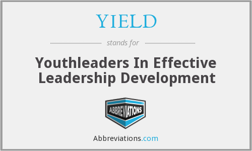 YIELD - Youthleaders In Effective Leadership Development