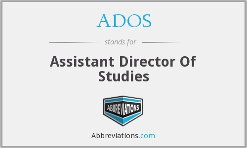 What does ADOS stand for?