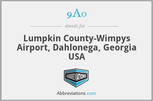 9A0 - Lumpkin County-Wimpys Airport, Dahlonega, Georgia USA