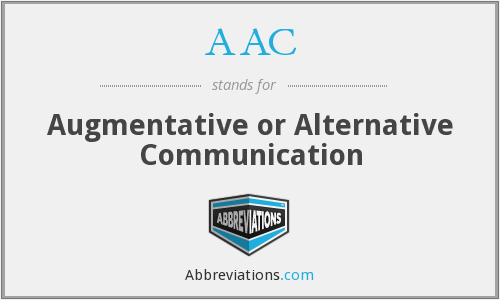 AAC - Augmentative or Alternative Communication