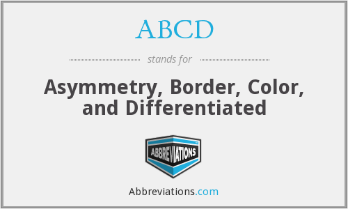 ABCD - Asymmetry, Border, Color, and Differentiated