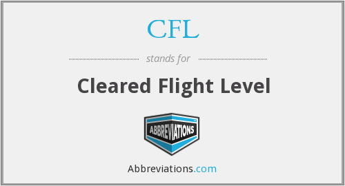 CFL - Cleared Flight Level