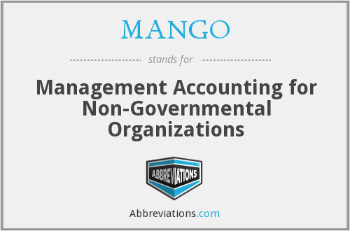 MANGO - Management Accounting for Non-Governmental Organizations