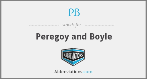 PB - Peregoy and Boyle