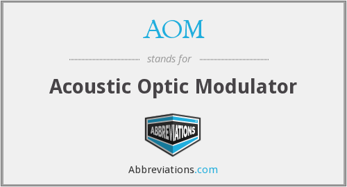 AOM - Acoustic Optic Modulator