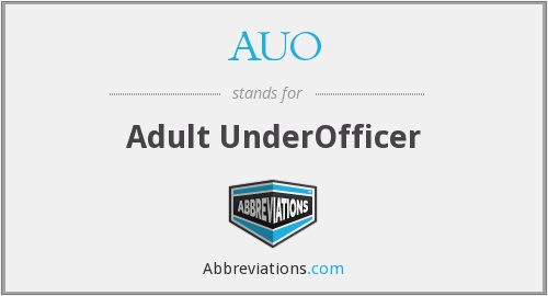 AUO - Adult UnderOfficer