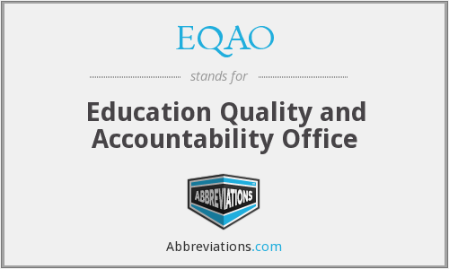What does EQAO stand for?