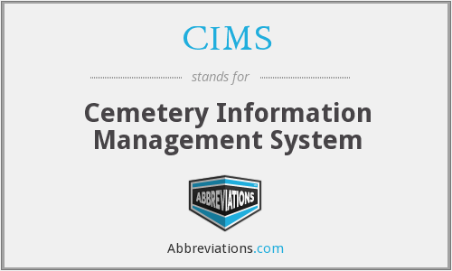 CIMS - Cemetery Information Management System