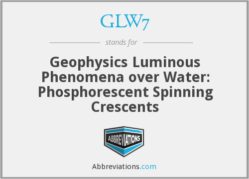 GLW7 - Geophysics Luminous Phenomena over Water: Phosphorescent Spinning Crescents