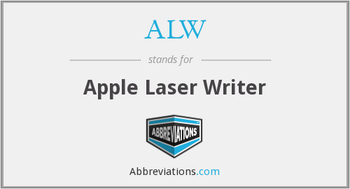 ALW - Apple Laser Writer