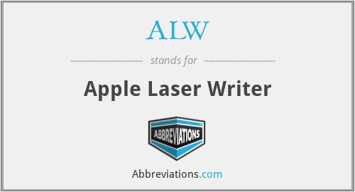 ALW - Apple Laser Writer